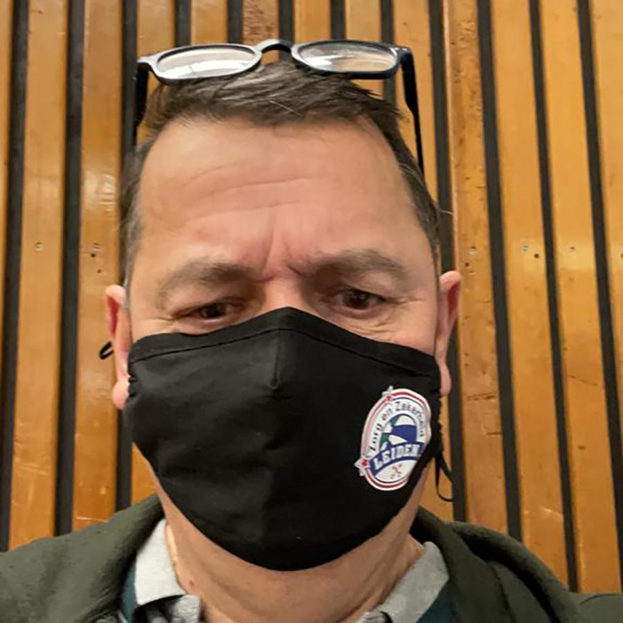 Ruud Haamke, de vaste dj bij de thuiswedstijden van ZZ Leiden.